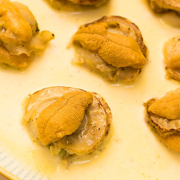レシピ集:ホタテのウニソース